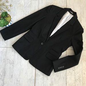 Express black one button notched collar blazer 10